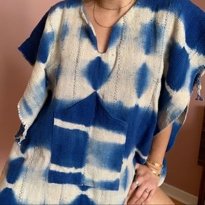 Indigo dyed cape
